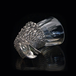 чарка ОРЕЛ из набора ОХОТНИЧИЙ  Хрусталь Бронза с гальваническим серебрением.
