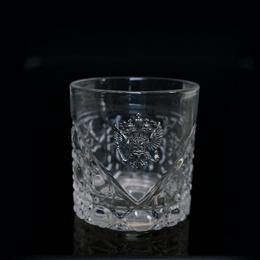 Хрустальный стакан НЕВСКИЙ с Гербом России из посеребренной бронзы. Художественное литье Производственная компания Русский Хрусталь
