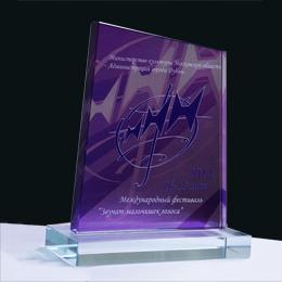 производство призов творческих наград дипломов плакеток из стекла с полноцветным нанесением
